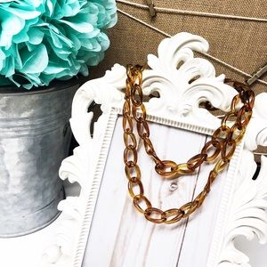 J. Crew • Tortoise Shell Link Necklace